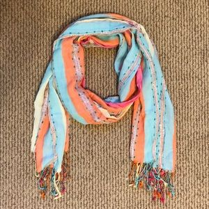 Pastel colored scarf